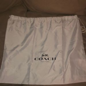 Coach purse bag white large as 1 couch cushion